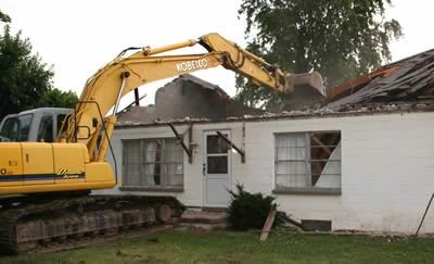 house demolition in Peachtree City, GA